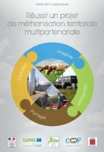 """Couverture guide """"Réussir un projet de méthanisation territoriale multipartenariale"""""""
